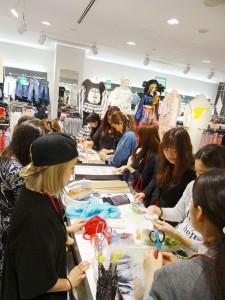 H&M新宿店でのコレクションイベントにてワークショップを実施