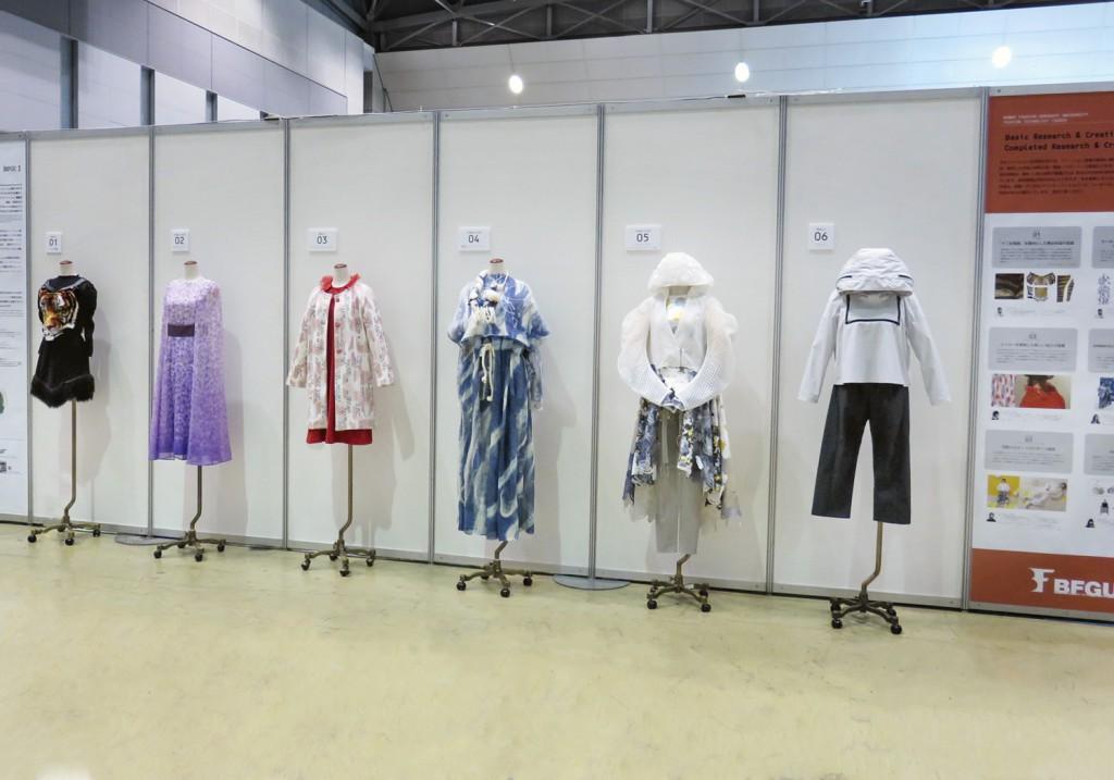 様々な加工技法を用いた修了作品の展示