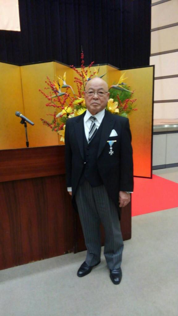 稲荷田 征元教授が平成29年秋の叙勲にて「瑞宝単光章」を受章